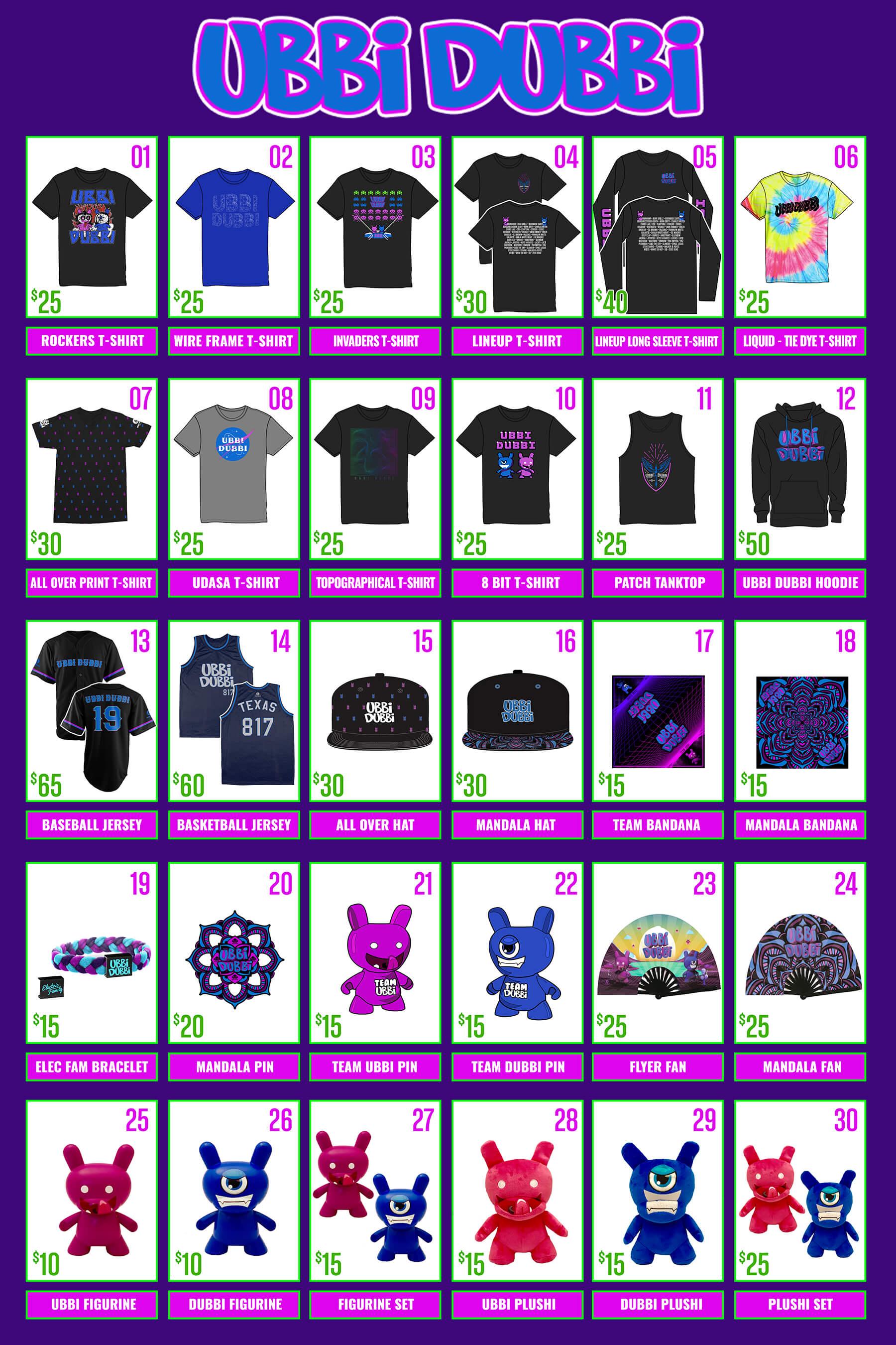 2019 merchandise for Ubbi Dubbi
