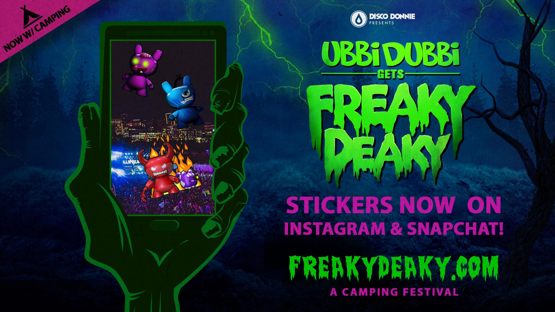 ubbi dubbi gets freaky deaky sticker pack
