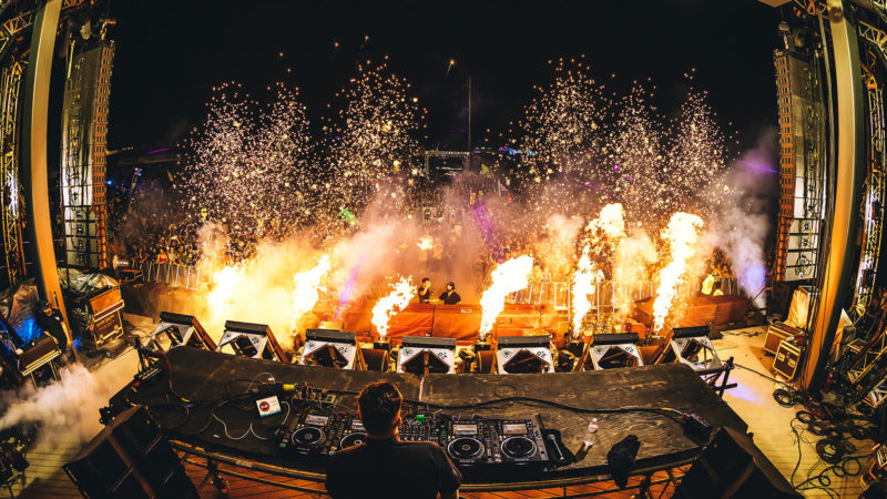 pyro lighting up the stage
