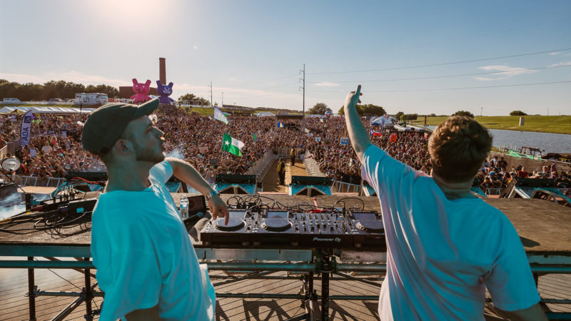 going hard on stage at ubbi dubbi