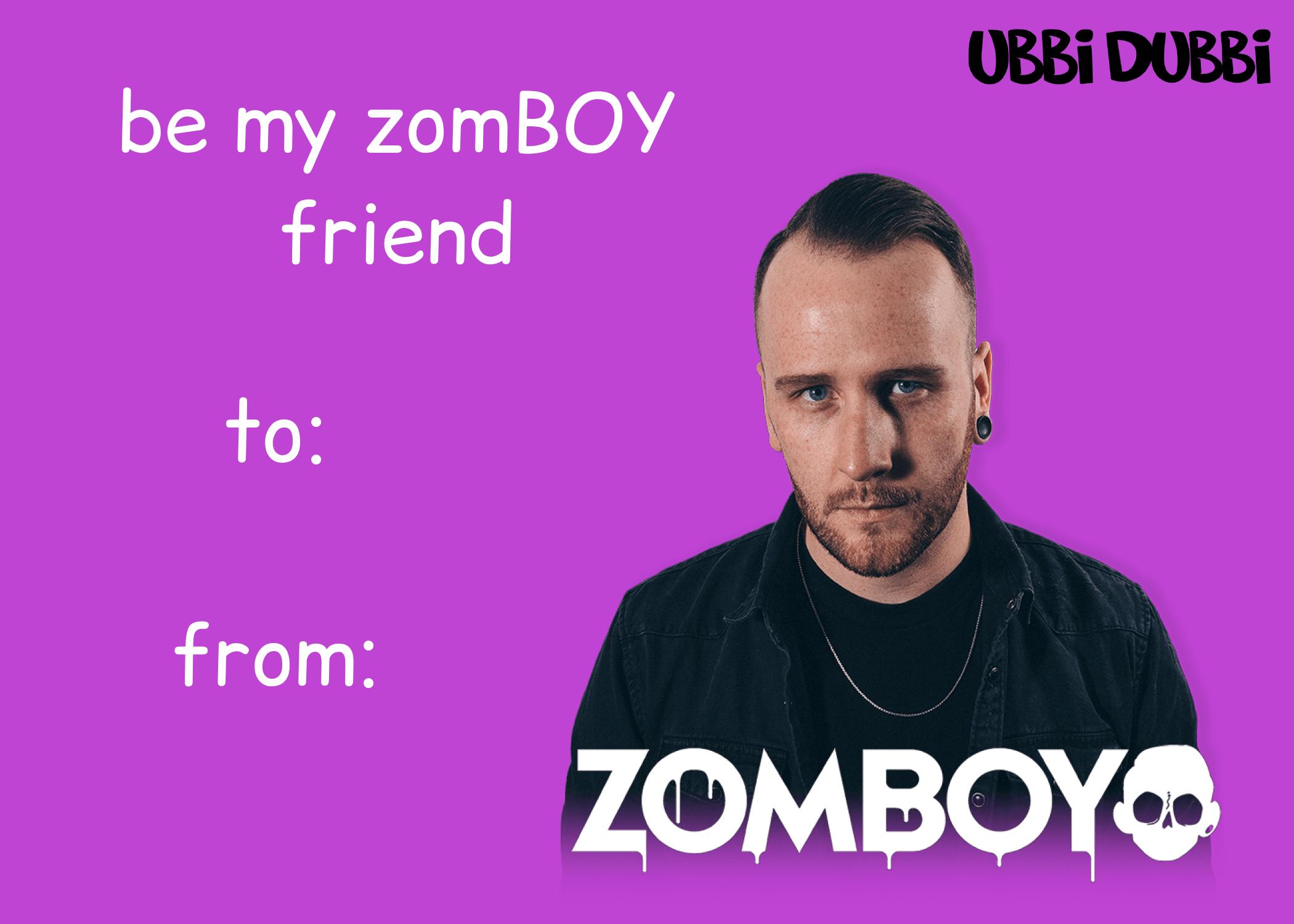 ubbi dubbi valentine's day card for zomboy