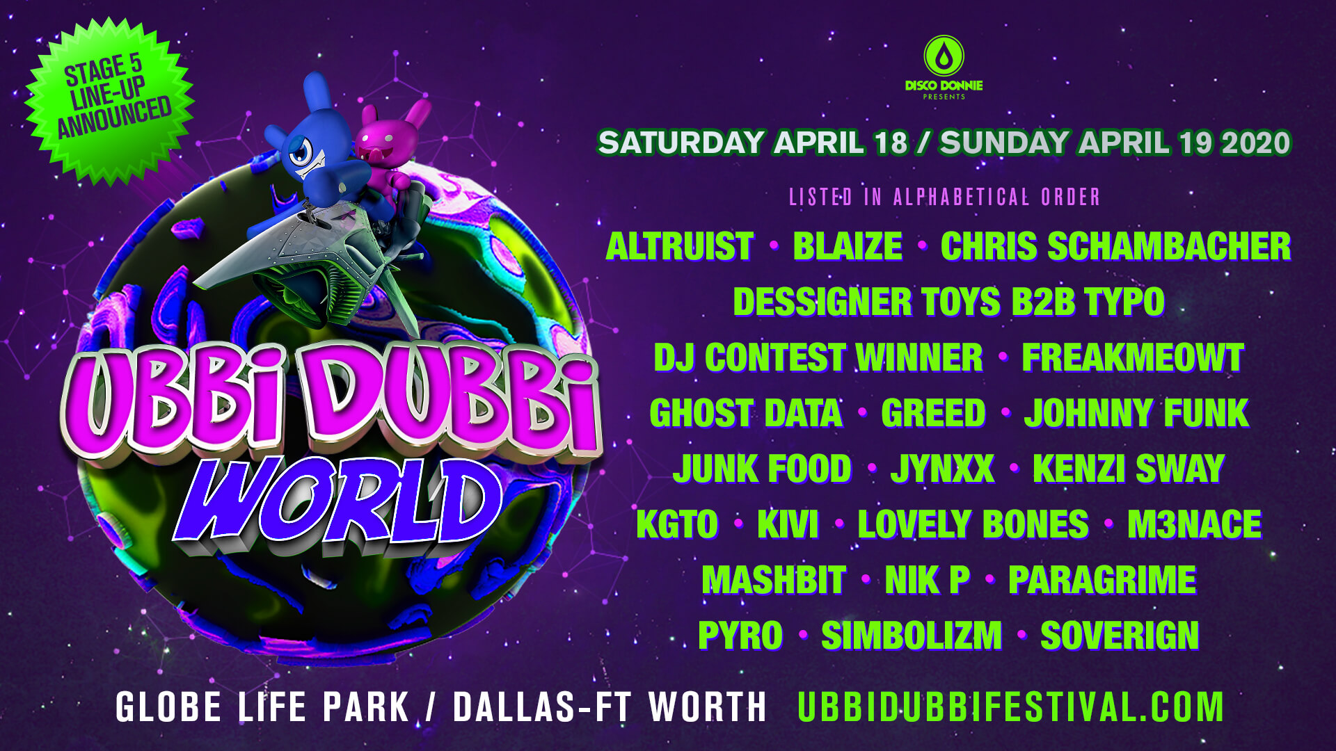 ubbi dubbi 2020 regional artists