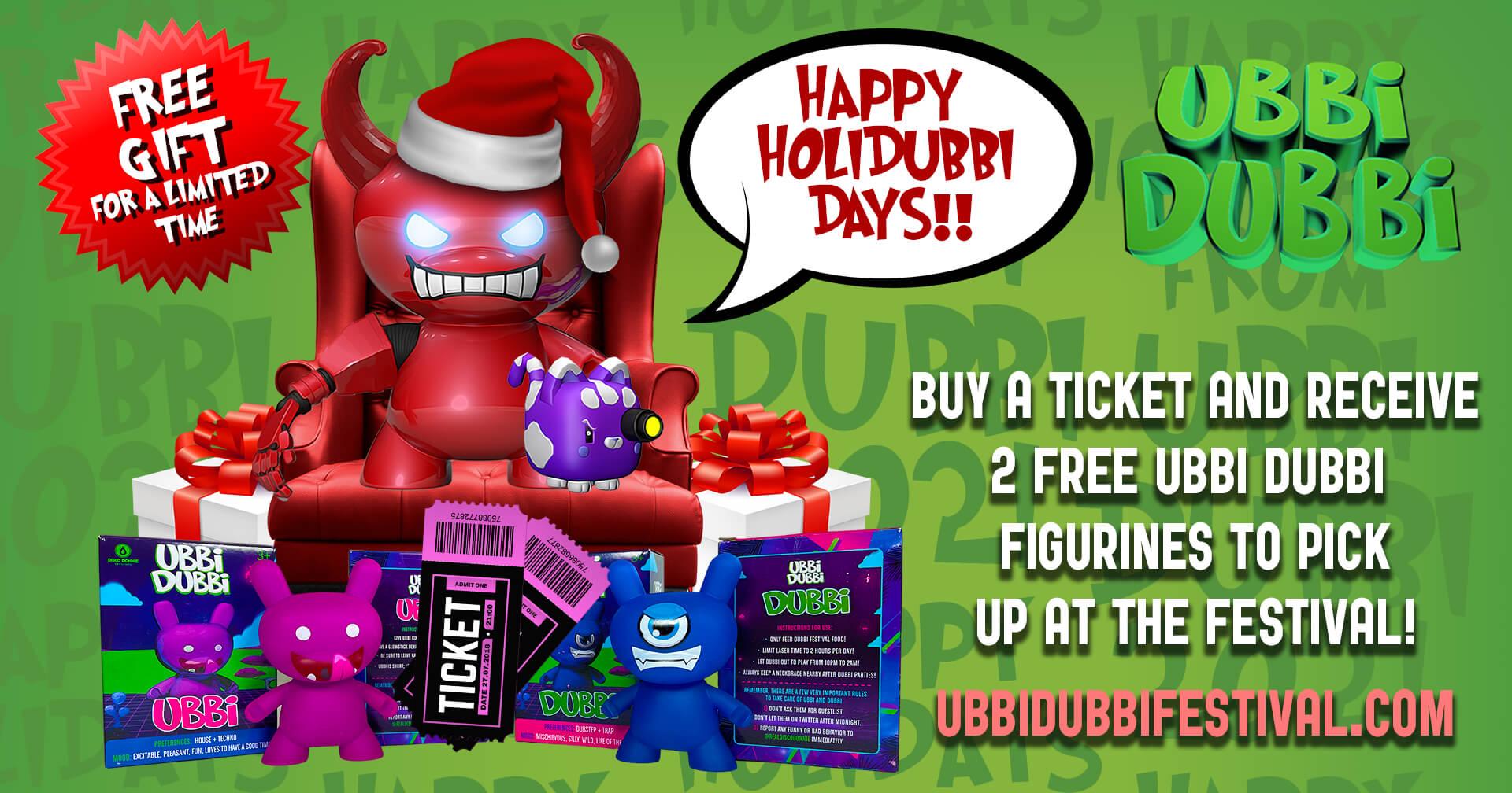 Receive Ubbi Dubbi Figurines with Ticket Purchase!