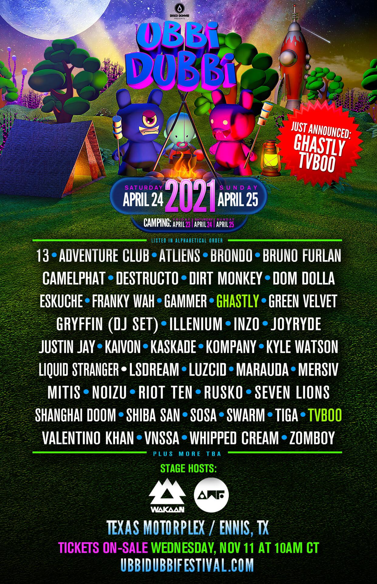 ubbi dubbi festival 2021 lineup poster