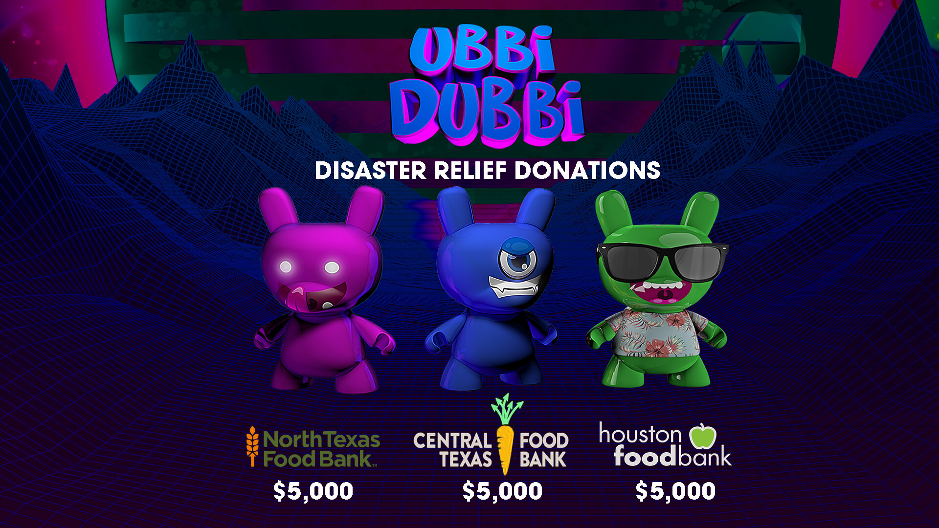 Ubbi Dubbi Donates to Texas Food Banks