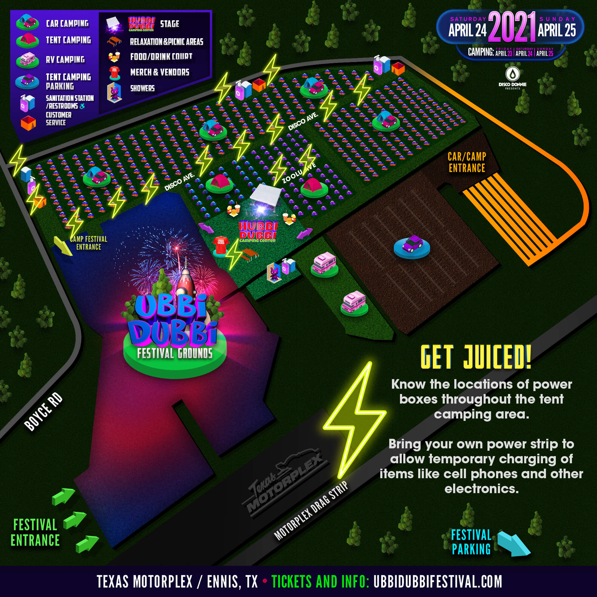 ubbi dubbi 2021 camping map