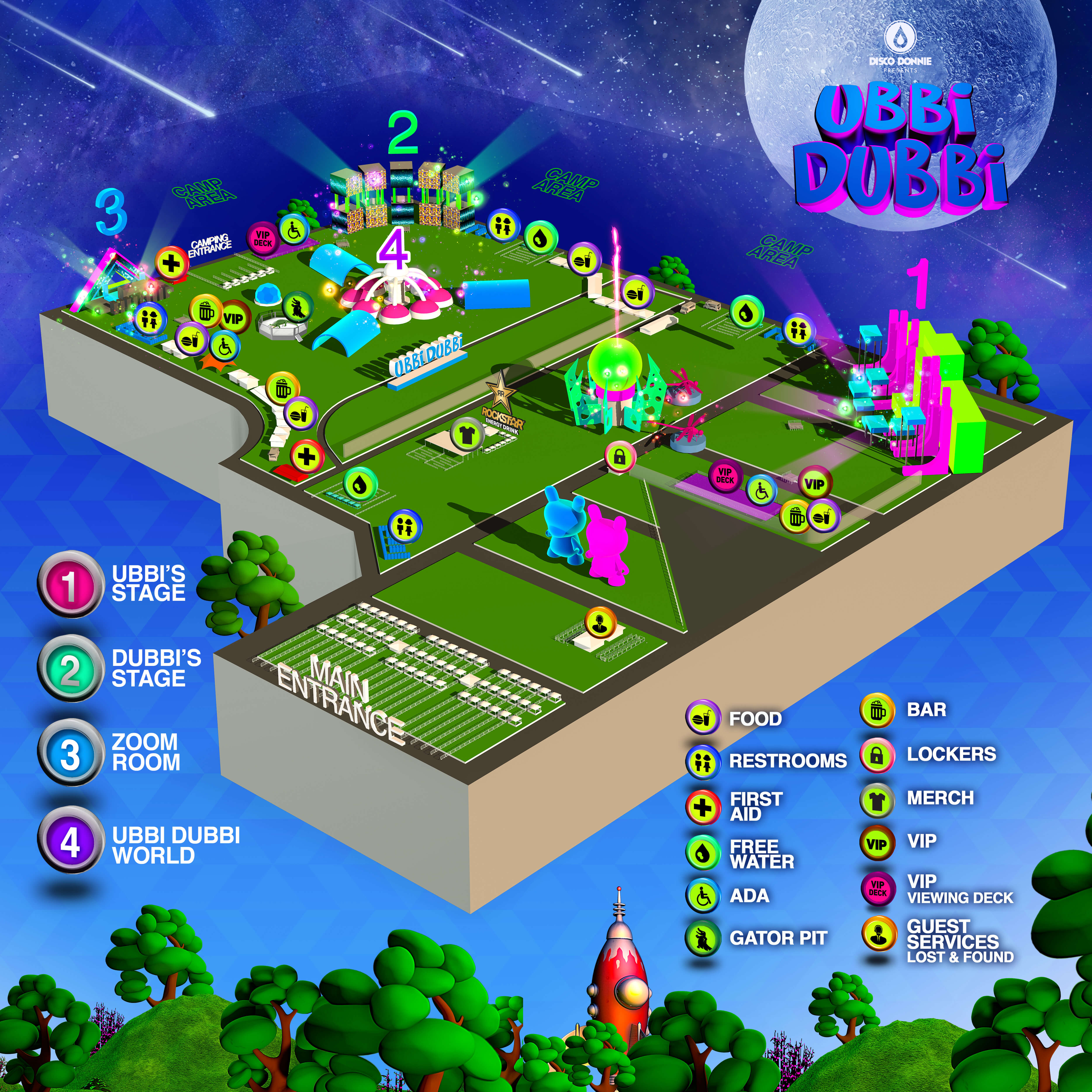Festival Map of Ubbi Dubbi Festival 2021