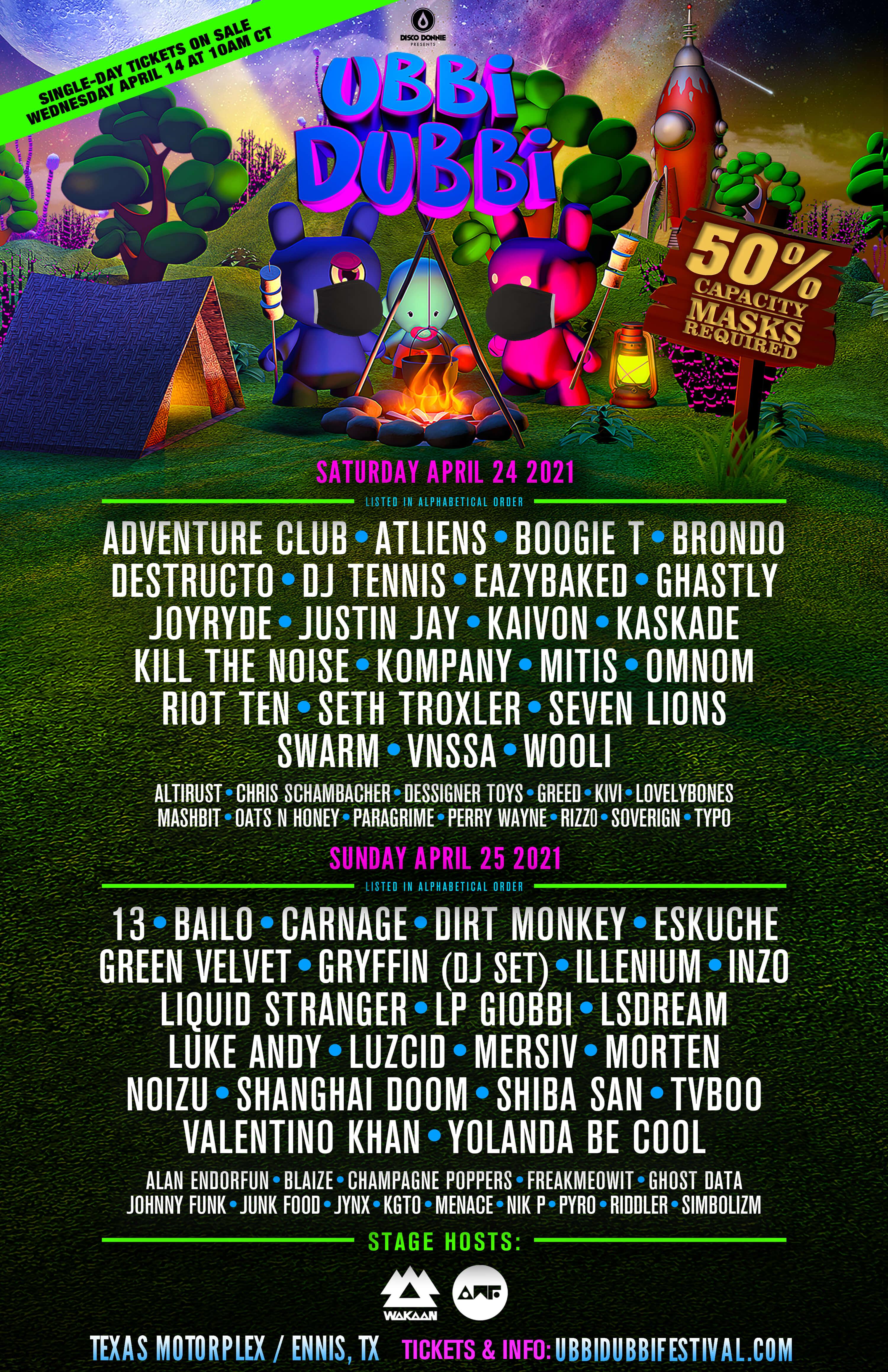 ubbi dubbi festival 2021 daily lineup