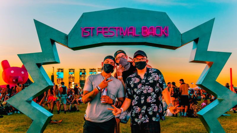 first festival back with the guys