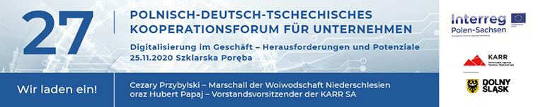 Einladung zum 27. Polnisch-Deutsch-Tschechischen Kooperationsforum für Unternehmen am 25. November 2020