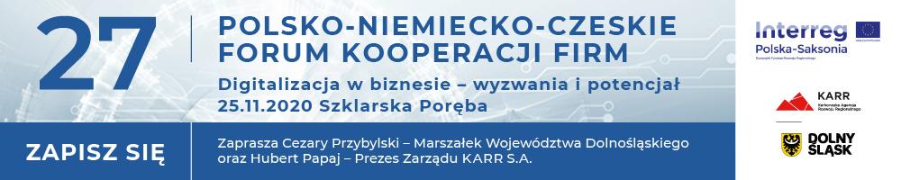 Zaproszenie na 27. Polsko-Niemiecko-Czeskim Forum Kooperacji Firm, 25.11.2020