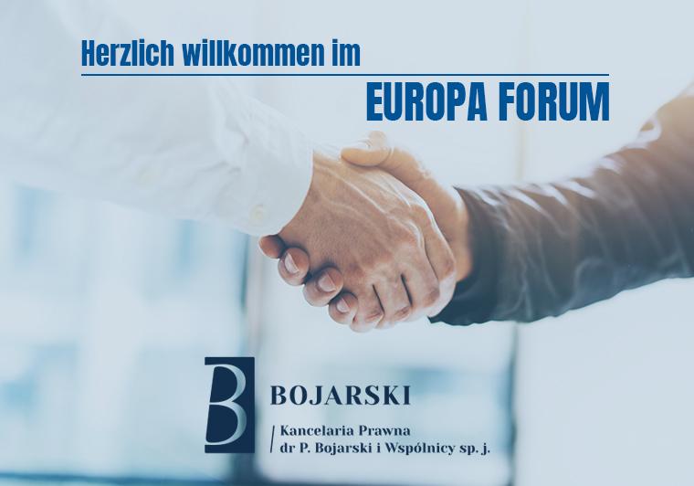 Wir begrüßen unsere neue Mitgliedsfirma: Kancelaria Prawna dr P. Bojarski i Wspólnicy spółka jawna