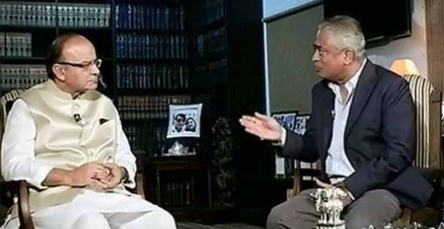 Rajdeep with Arun Jaitley