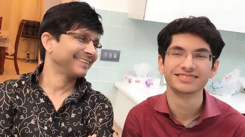 KRK with his son