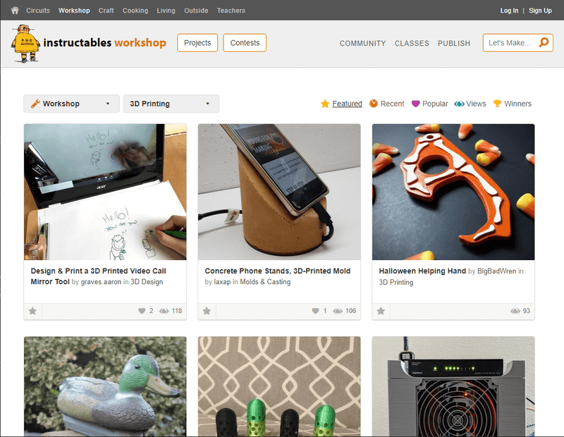 Сайт Instructables