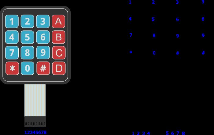 Принципиальная схема клавиатуры