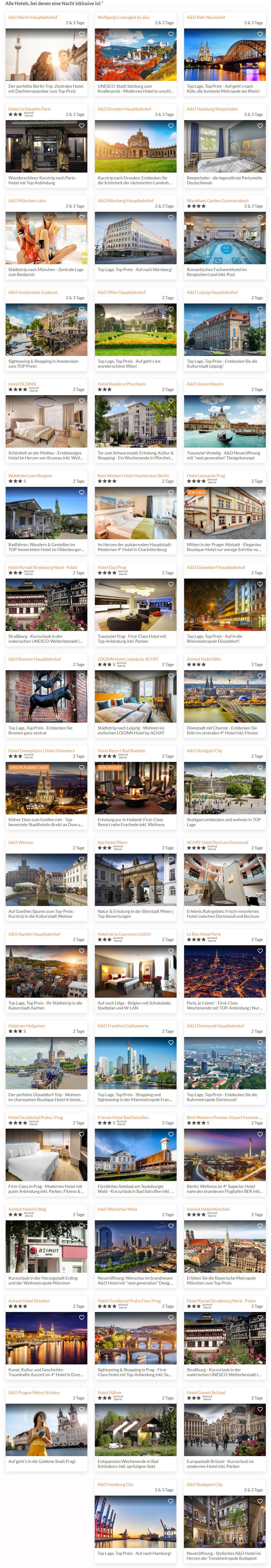 Verfügbare Hotels