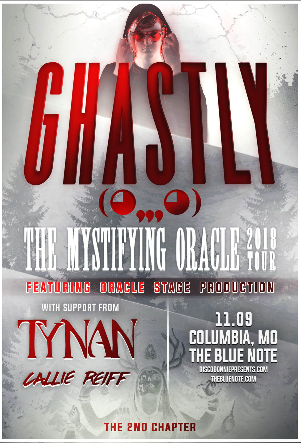 Ghastly, Tynan, Callie Reiff in Columbia