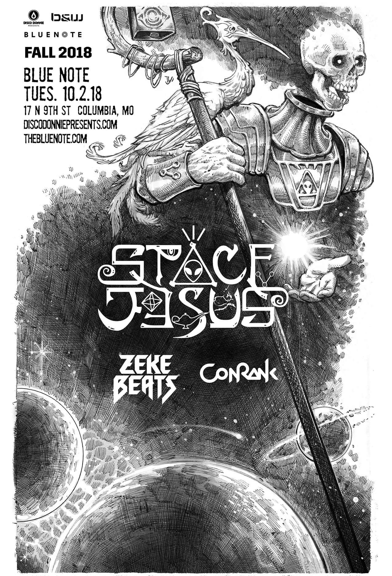 Space Jesus, Zeke Beats, Conrank in Columbia