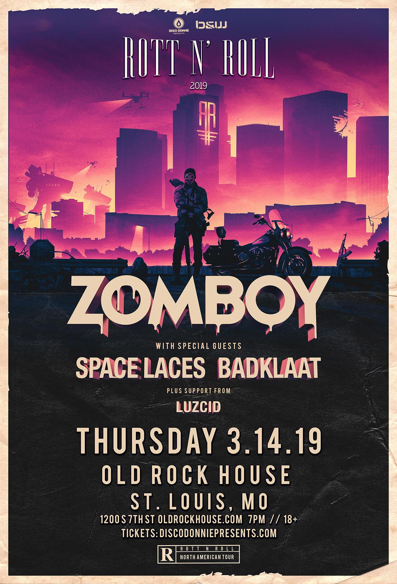 Zomboy, Space Laces, BadKlaat, Luzcid in St Louis