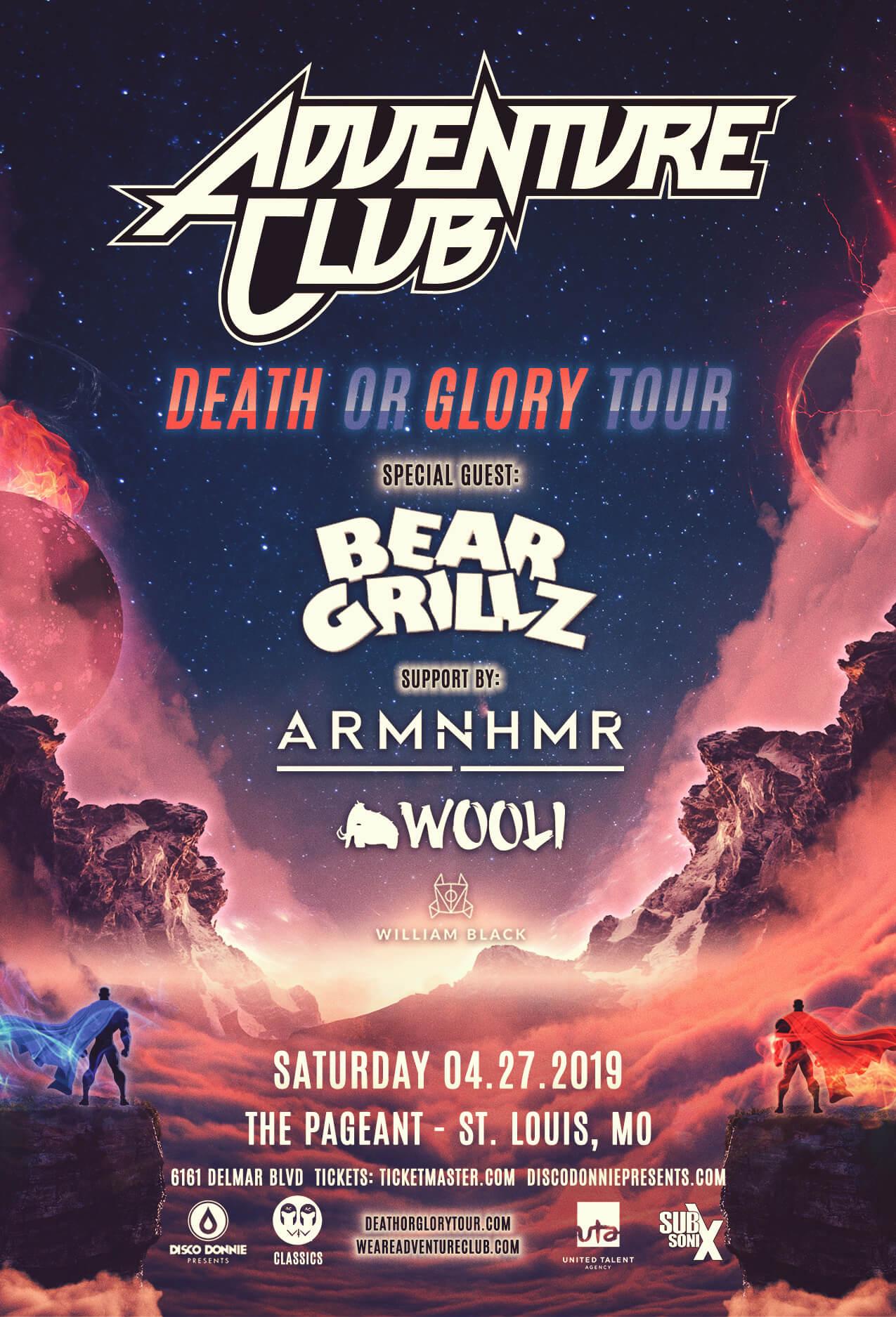 Adventure Club, Bear Grillz, ARMNHMR, Wooli, William Black in St Louis