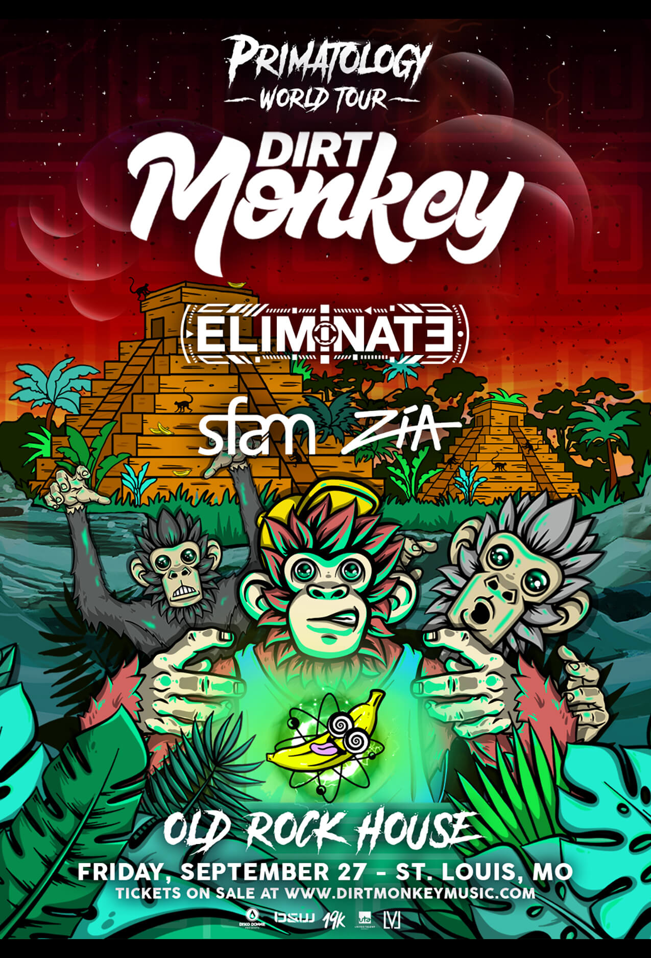 Dirt Monkey, Eliminate, sfam, Zia in St Louis