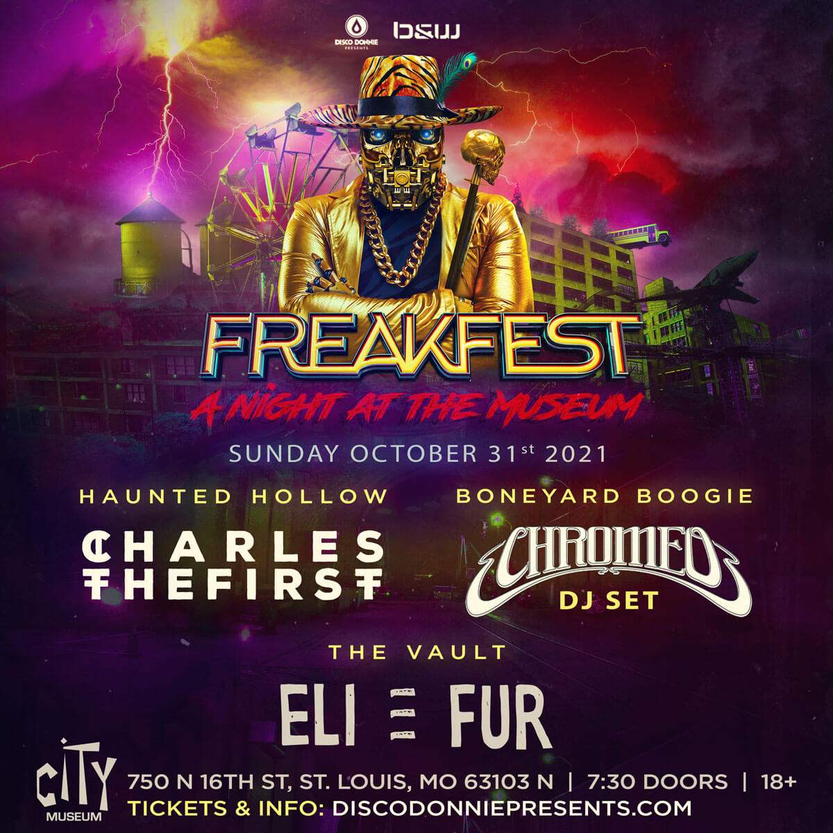 CharlestheFirst, Chromeo, Eli & Fur at City Museum in St Louis