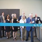 CCA Trustee Simon Blattner and team at the new Blattner Hall ribbon cutting ceremony at 75 Arkansas.