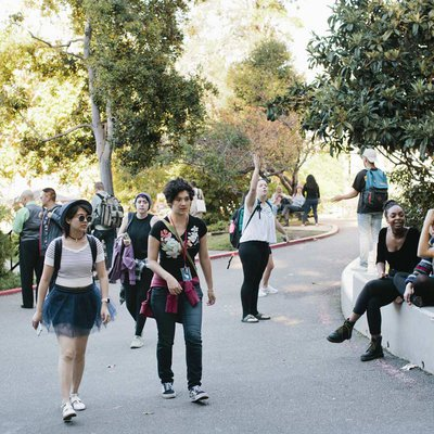 Students on the Oakland Campus.