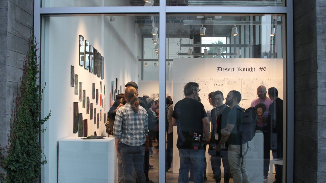 Emanata_MFA in Comics Exhibition 2017 at Hubbell Street Galleries_Connecting with a global audience