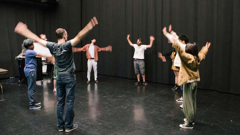 BFA Film students in a performance and acting film class_horizontal feature_MB