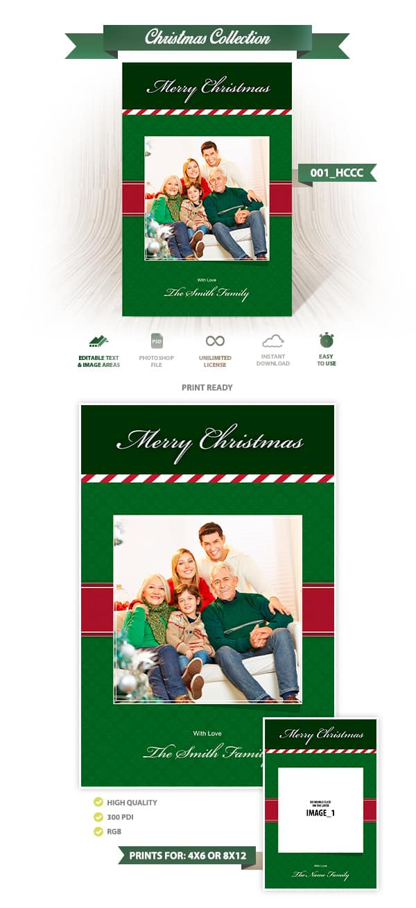 Holiday Card Template 001