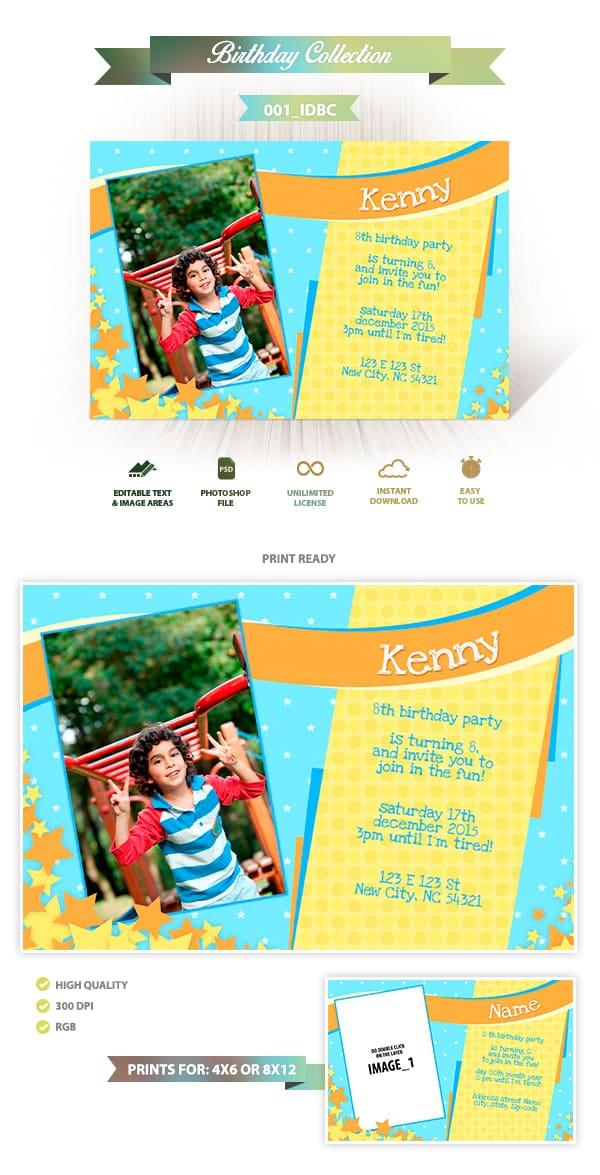 Birthday Invitation Design | 001_IDBC
