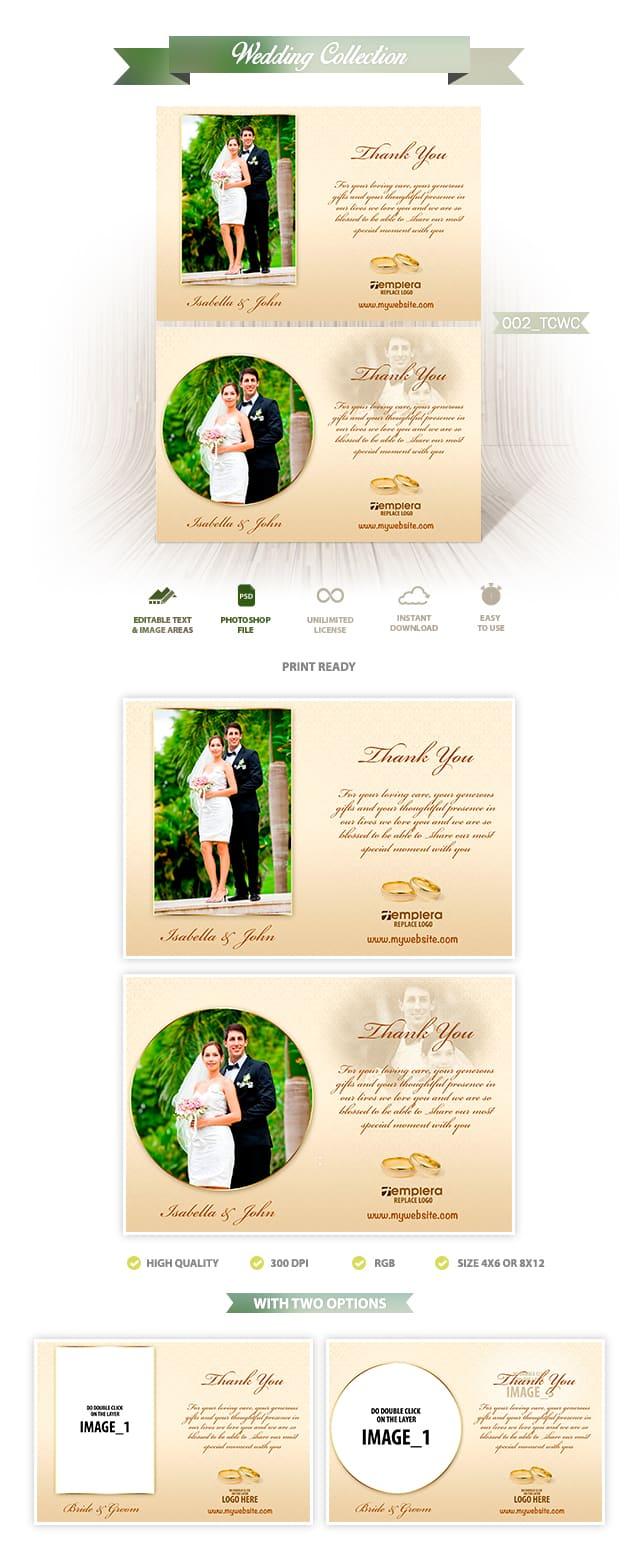 Wedding ThankYou Card 002 TCWC