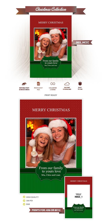 Christmas Card Template 003