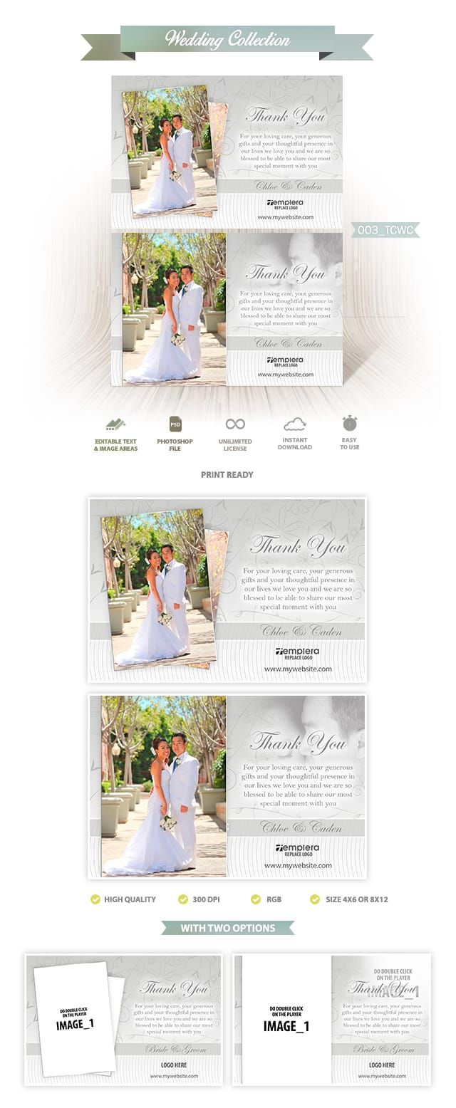 Wedding ThankYou Card 003 TCWC