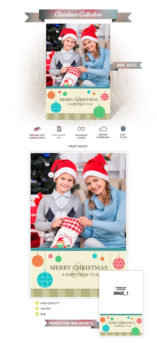 Holiday Card Template 004