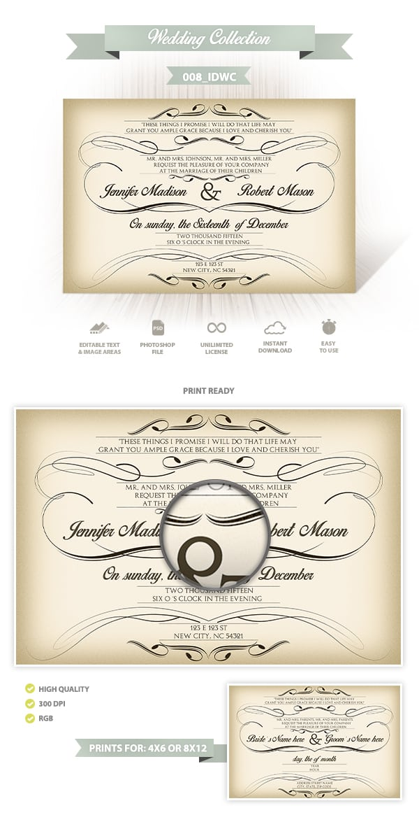 Wedding Invitation Design | 008_IDWC
