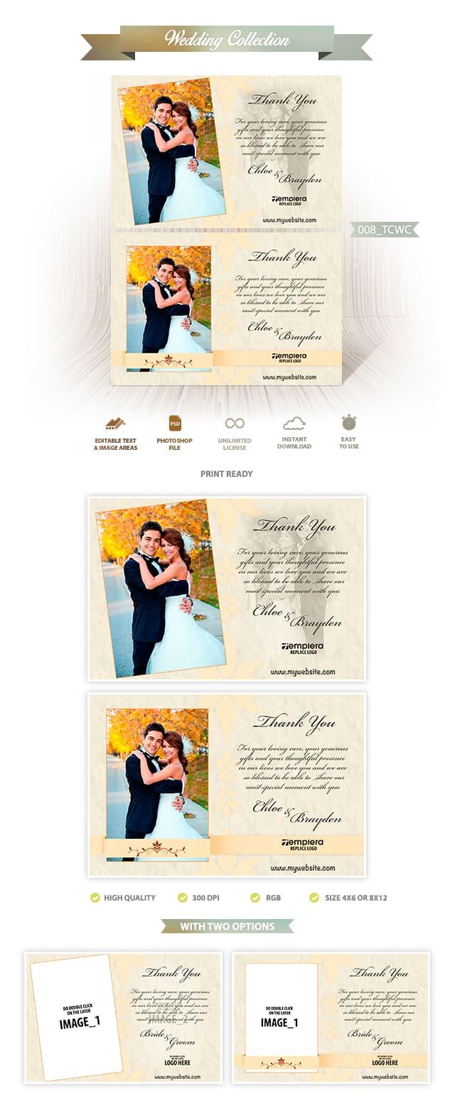 Wedding ThankYou Card 008 TCWC