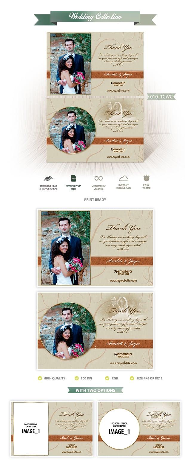 Wedding ThankYou Card 010 TCWC