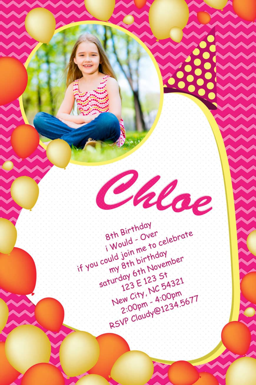 Birthday Invitation Design 054 IDBC Is A Photoshop Psd File Easy To Use Template Works Great If You Are Looking For