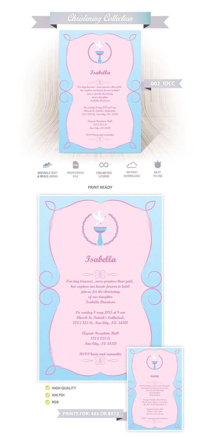 Christening Invitation Design 002
