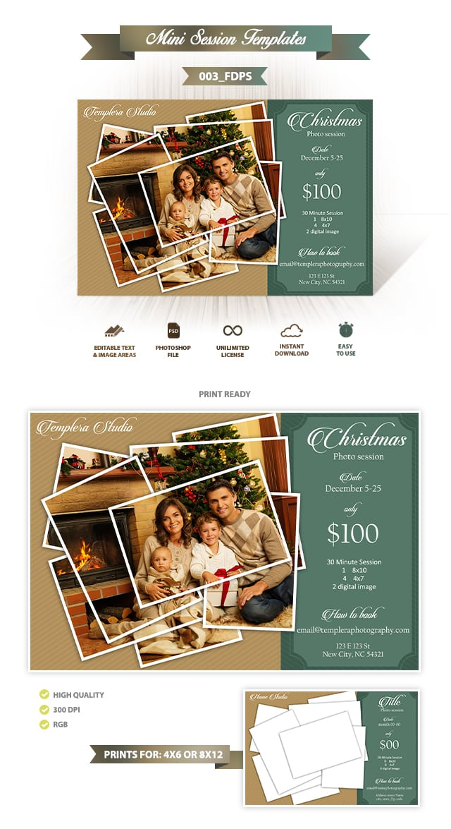 Christmas Mini Session Template 003