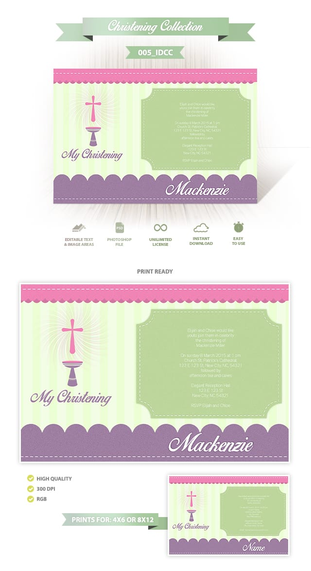 Christening Invitation Design 005