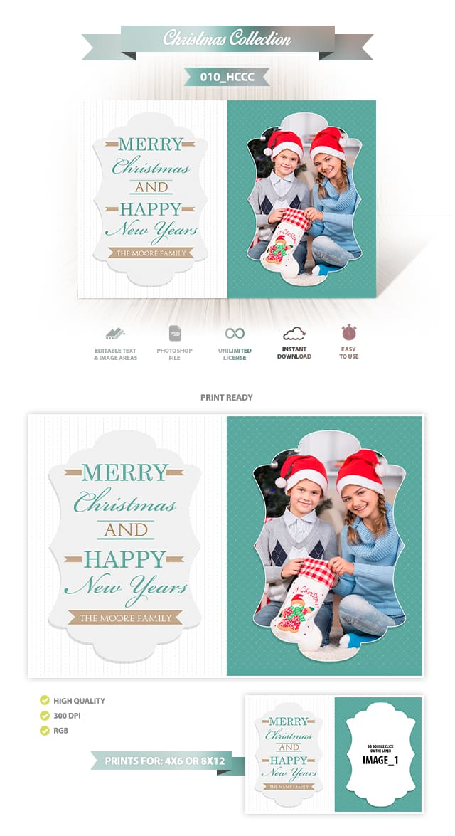 Holiday Card Template 010