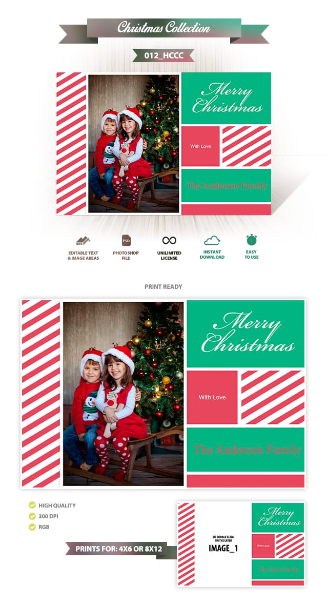 Holiday Card Template 012
