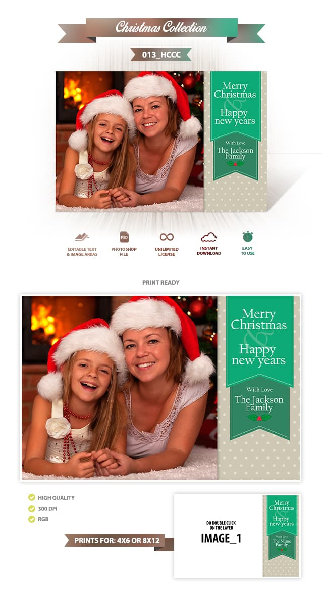 Holiday Card Template 013