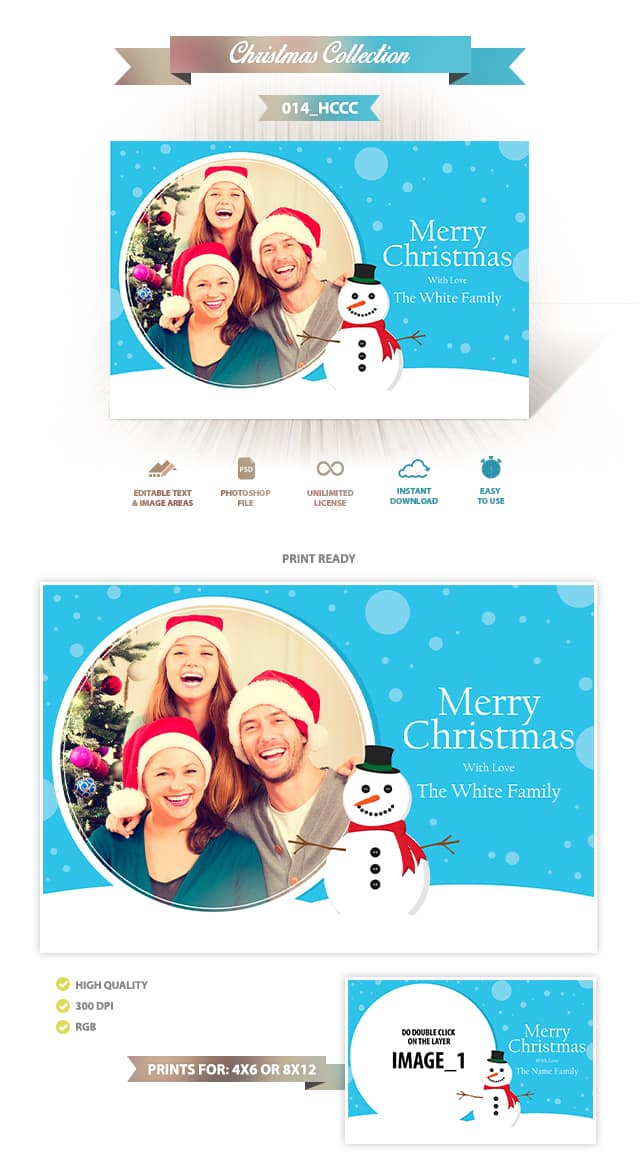 Holiday Card Template 014