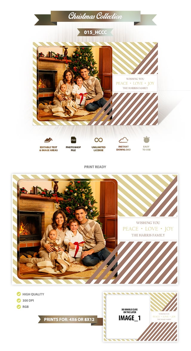 Holiday Card Template 015