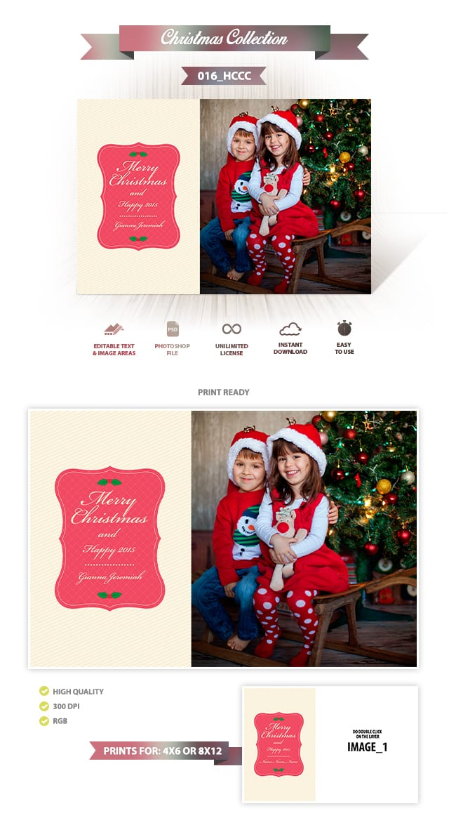 Holiday Card Template 016